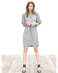 Banana Republic | Gray Heritage Hooded Twill Dress | Lyst
