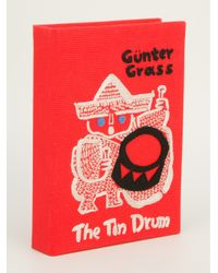 Olympia Le-Tan Red The Tin Drum Book Clutch