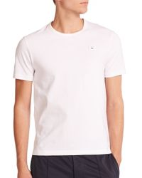 Acne Studios | White Eddy Face Tee for Men | Lyst