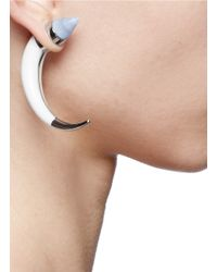 Givenchy - Metallic Chalcedony Stone Shark Tooth Magnetic Single Earring - Lyst