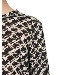 Proenza Schouler Black Printed Long Sleeve Cotton T-Shirt