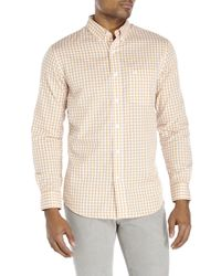 Dockers | Orange Gingham Button-Down Shirt for Men | Lyst
