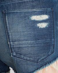 3x1 - Blue 'wm5' Distressed Cutoff Denim Shorts - Lyst