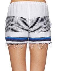 lemlem - Blue Lulu Multi-striped Shorts - Lyst