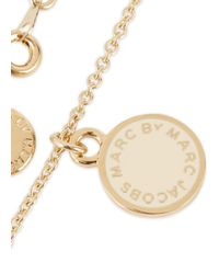 Marc By Marc Jacobs | Metallic Cream Enamel Necklace | Lyst