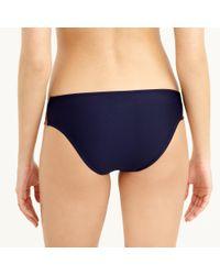 J.Crew - Blue Metallic Colorblock One-piece Swimsuit - Lyst