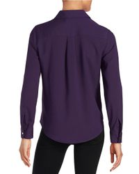 Ivanka Trump | Purple Button-front Blouse | Lyst