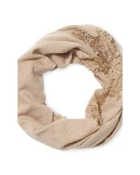 Ralph Lauren | Natural Lace Infinity Scarf | Lyst