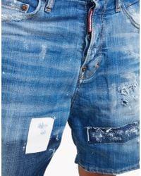DSquared² - Blue Kawaii Shorts - Lyst