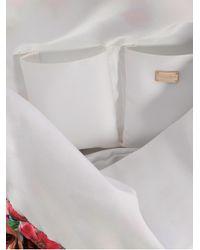 Dolce & Gabbana Blue Hobo Fabric Bag with Chain Handles