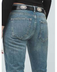 Mango Blue Straight Fit Joe Jeans