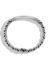 David Yurman | Metallic Exotic Stone Narrow Id Bracelet With Black Onyx for Men | Lyst