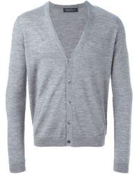 Pringle of Scotland - Gray V-neck Cardigan for Men - Lyst