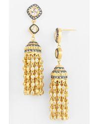 Freida Rothman - Metallic Tassel Drop Earrings - Lyst