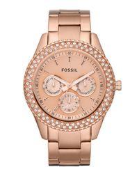Fossil Metallic Ladies Rose Gold Watch