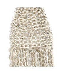 Oscar de la Renta Metallic Tassel Clip-on Earrings