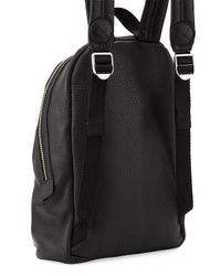 Marc By Marc Jacobs Black Domo Biker Leather Backpack