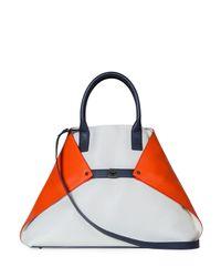 Akris - Orange Ai Medium Tricolor Messenger Bag - Lyst