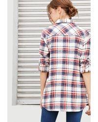 Forever 21 - Natural Tartan Plaid Shirt - Lyst