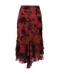 Zac Posen Layered Floral Burnout Skirt