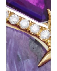 Jordan Alexander - Metallic Mo Exclusive: 18k Gold Amethyst And Charoite Ring - Lyst