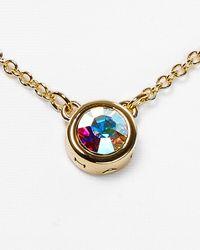T Tahari - Metallic Mini Pendant Necklace 16 - Lyst