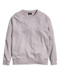 H&M Gray Nepped Sweatshirt for men