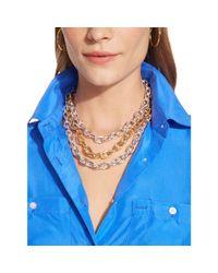 Lauren by Ralph Lauren | Metallic Multi-Toned Oval-Link Necklace | Lyst