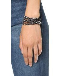 Chan Luu   Waved Beaded Wrap Bracelet - Mystic Black Mix   Lyst