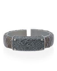 Henri Bendel - Gray Bowery Hinged Cuff Bracelet - Lyst