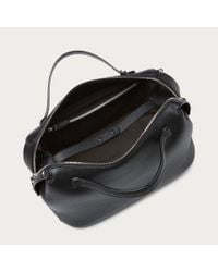 Bally Kissen Medium Women's Leather Bowling Bag In Black