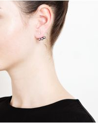 Yvonne Léon | Gray 18k White Gold And Pearl Lobe Earring | Lyst
