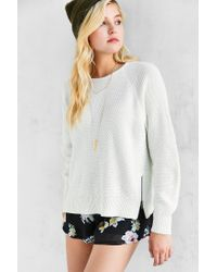 Silence + Noise - White Double Zip Sweater - Lyst