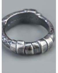 Bottega Veneta Metallic Woven Ring for men