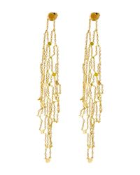 Sia Taylor | Metallic Gold Grid Drop Earrings | Lyst