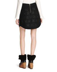 COACH Black X Blitz 'grommet' Shirttail Hem Skirt