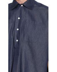E. Tautz - Blue Whitby Denim Overshirt for Men - Lyst