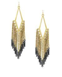 BCBGeneration | Metallic Goldtone Hematite Kite Fringe Earrings | Lyst