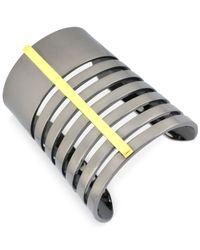 Vince Camuto - Metallic Twotone Large Bar Cuff Bracelet - Lyst