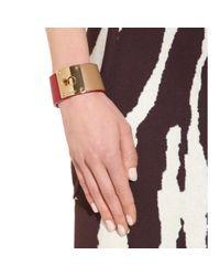 Fendi - Pink Leather Cuff - Lyst