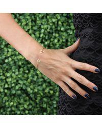 Jemma Wynne | Metallic Triangle Bangle With Diamond Pave | Lyst
