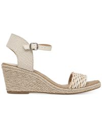 Lucky Brand Gray Women's Kavelli Espadrille Two-piece Platform Wedge Sandals