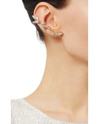 Ryan Storer - Pink Four Piece Rose Gold Swarovski Crystal Earring-cuff Set With Double Stud - Lyst