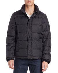 Calvin Klein | Black Puffer Coat for Men | Lyst