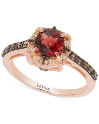 Le Vian | Metallic Petite Collection Garnet (1-1/6 Ct. T.w.) And Chocolate Diamond (3/8 Ct. T.w.) Ring In 14k Rose Gold | Lyst
