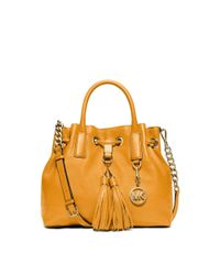 Michael Kors | Yellow Camden Leather Satchel | Lyst