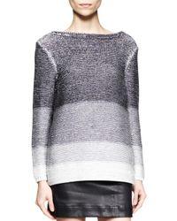 Helmut Lang Black Plaited Degrade Knit Sweater