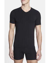 Naked - Black 'luxury' Micromodal Blend V-neck T-shirt for Men - Lyst