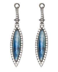Kimberly Mcdonald | Blue Diamond Pavé Kyanite Drop Earrings | Lyst