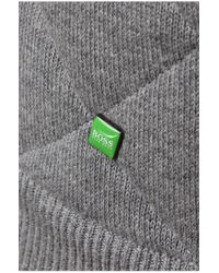 BOSS Green | Gray 'zagan' Cardigan In A Cotton Blend for Men | Lyst